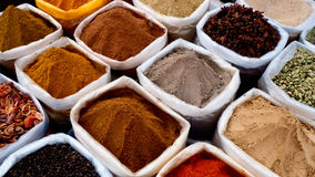 Indian spices colours Stock Photography