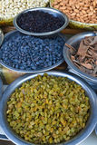 Indian Spices and dry fruits Royalty Free Stock Image
