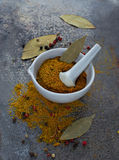 Indian spices on grunge background Royalty Free Stock Photography