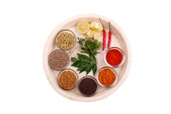 Indian spices and herbs Stock Photos