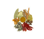 Indian spices stock images
