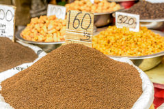 Indian spices in the local market in New Delhi Royalty Free Stock Photos