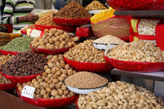 Indian spices and nuts Stock Photography