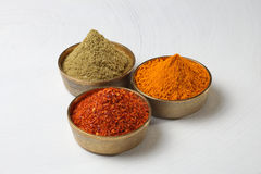 Indian spices powder Royalty Free Stock Photos
