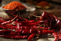 Indian Spices. Red Chilly Royalty Free Stock Photos