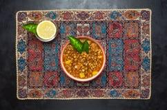 Indian Spices Red Lentil Soup. Rich lentil soup. stock image