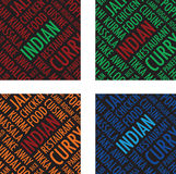Indian square colourful background Royalty Free Stock Photos