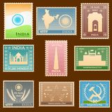 Indian stamp. Easy to edit vector illustration of Indian stamp Royalty Free Stock Photo