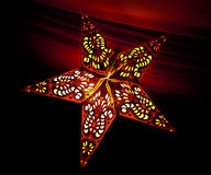 Indian star lit. Beautifully crafted star shaped lanterns made of paper Stock Photos