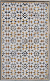 Indian star pattern. Indian decorative star pattern made of stone tiles Stock Photography