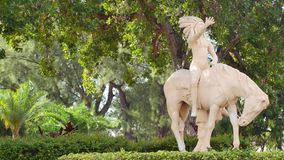 Indian statue Miami Beach 4k stock footage
