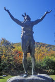 Indian Statue, Mohawk State Park, West Massachusetts Royalty Free Stock Images