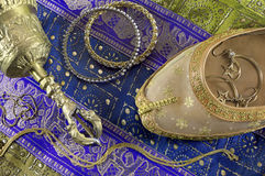 Indian still life with jewelry Royalty Free Stock Images