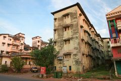 Indian street and buildings Stock Photography