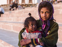 Indian Street Children in Pushkar, India Stock Photography