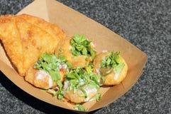 Indian street food Aka Pani Puri Royalty Free Stock Photography