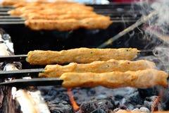 Indian street Food: Chicken Kawab Royalty Free Stock Images