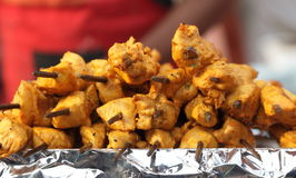 Indian street Food: Chicken Kawab Royalty Free Stock Images