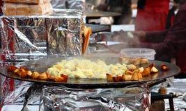 Indian street Food: Fried Potatos Stock Photos