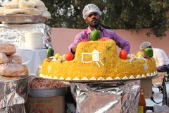 Indian street Food. Hawkers are selling Indian Street Food Royalty Free Stock Photography