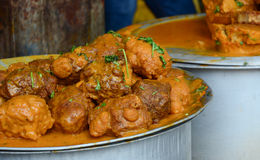 Indian street food. At the market in Bodhgaya, India Royalty Free Stock Photography
