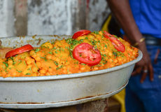 Indian street food. At the market in Bodhgaya, India Stock Photo