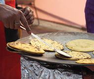 Indian street Food: Parantha (Fried bread) Royalty Free Stock Photos