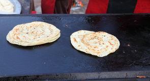 Indian street Food: Parantha (Fried bread) Stock Images