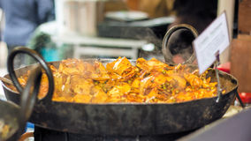 Indian Street Food. Spicy Vegetarian Cauliflower Curry Royalty Free Stock Image
