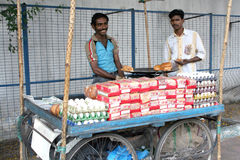 Indian street food vendor Stock Images