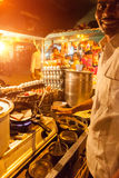 Indian street food vendor Royalty Free Stock Photos