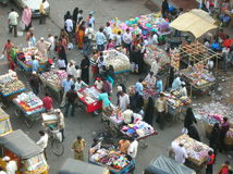Indian street Market Stock Image