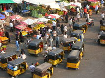 Indian street Market Royalty Free Stock Image
