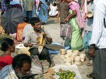 Indian street market stock photo