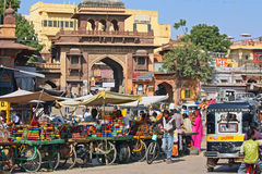 Indian street market. Colourful indian street market in Jodhpur, India Royalty Free Stock Photography