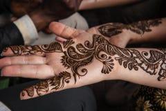 Indian street  master uses  henna paste or mehndi Stock Image