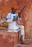 Indian Street Musician Stock Photography