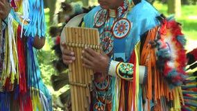 Indian street musicians. 4K. stock video footage