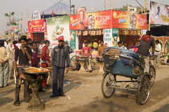 Indian street scene stock photography