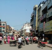 Indian Street Scene - Amritsar Punjab India. A Crowded India Street Scene Royalty Free Stock Image