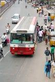 Indian Street Scene-public trasport Stock Image