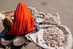 Indian street seler Royalty Free Stock Images