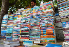 Indian Street seller sell second hand books Royalty Free Stock Photos