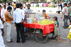 Indian street vendor Royalty Free Stock Photo