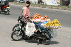 Indian Street Vendor-Fruits Royalty Free Stock Images