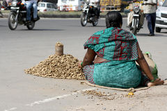 Indian street vendor Stock Image