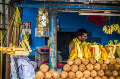 Indian street vendor Stock Images