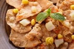 Indian streetfood papri chaat Stock Image