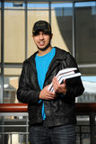 Indian Student Holding Books Stock Image