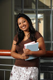 Indian Student Holding Books Royalty Free Stock Photos
